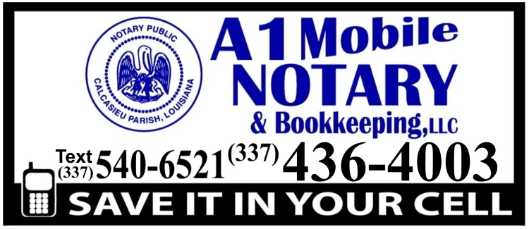 A1 Mobile Notary in Lake Charles LA