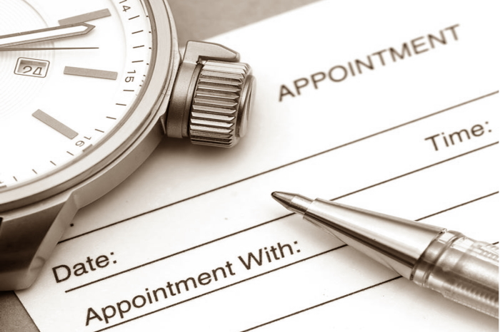appointment graphic with date and time